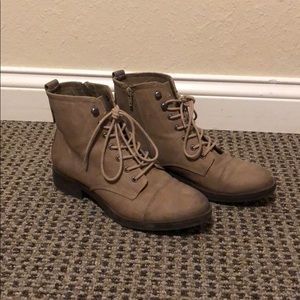 Madden Girl Taupe Ankle Boots